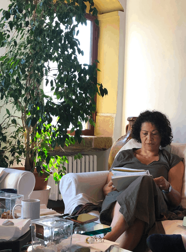 Author Lisa Ramee at A Writer Within retreat in Tuscany